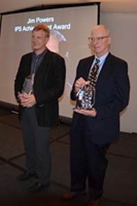 Christopher Overall (L) is seen with James Powers, another Life Time Achievement awardee.