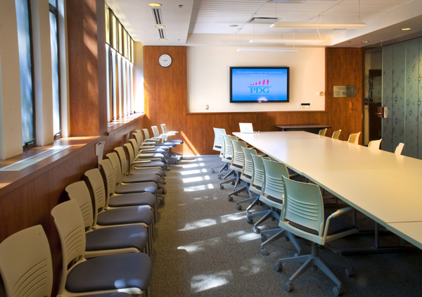 The new PDG Conference Room located in the former dental clinic central dispensary in the John B. Macdonald Building.