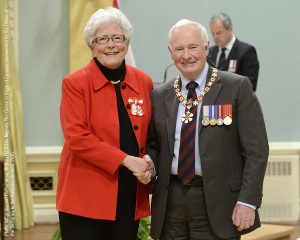 His Excellency the Right Honourable David Johnston, Governor General of Canada, and Dr. Marcia A. Boyd.