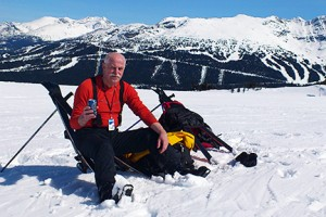 N. Dorin Ruse taking a break in Whistler, BC, from his lab at the Faculty of Dentistry, University of British Columbia.