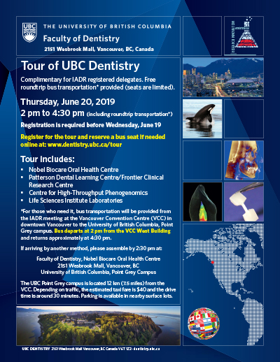 Tour of UBC Dentistry for IADR Delegates | Faculty of Dentistry